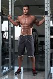 Barbell Squat Workout For Legs Stock Photos