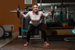 Barbell Squat Stock Photography
