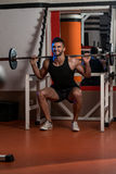 Barbell Squats Stock Images