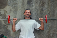 Barbell training Royalty Free Stock Photography