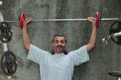 Barbell training Stock Photo