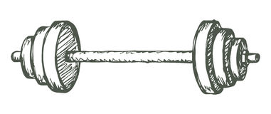 Barbell. Vector drawing Royalty Free Stock Photography