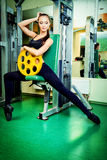 Barbell weight Royalty Free Stock Photography