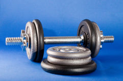 Barbell and Weights Royalty Free Stock Images