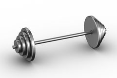 Barbell on white background Royalty Free Stock Image