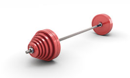 Barbell  on white Royalty Free Stock Photo