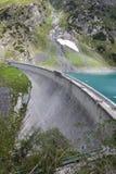 Barbellino-Verdammung und Rückhaltebecken, Alpen Orobie, Bergamo, stockbild
