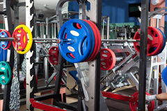 Barbells - εξοπλισμός γυμναστικής στοκ φωτογραφίες με δικαίωμα ελεύθερης χρήσης