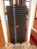 2 3 barbells держа вес тренировки lb Стоковое Изображение RF