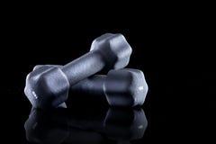 2 3 barbells держа вес тренировки lb Стоковое фото RF