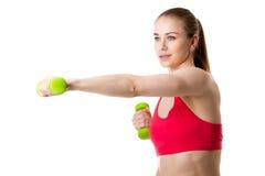 2 3 barbells держа вес тренировки lb Стоковые Фотографии RF