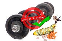 2 3 barbells держа вес тренировки lb Стоковое Изображение