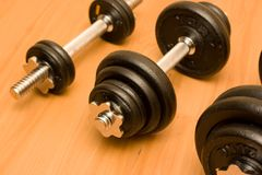 Barbells. Royalty Free Stock Photos
