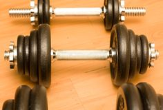 Barbells. Royalty Free Stock Photography