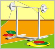 Barbells stockbild
