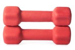 barbells czerwień dwa Obrazy Stock