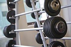 Barbells - equipamento da ginástica Fotografia de Stock Royalty Free