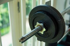 Barbells in the fitness room. Royalty Free Stock Images