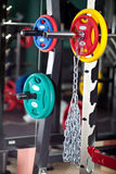 Barbells - gym equipment Royalty Free Stock Images