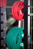 Barbells - gym equipment Stock Photos