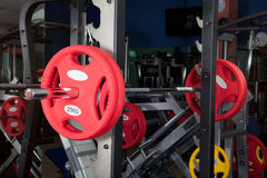 Barbells - gym equipment Stock Photo