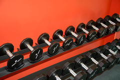 Barbells gym equipment Royalty Free Stock Photography