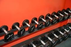 Barbells gym wyposażenie Fotografia Royalty Free