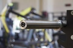 Barbellstange Sportausrüstungskonzept stockfoto