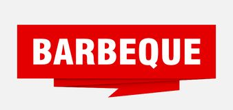 Barbeque. Sign.  paper origami speech bubble.  tag.  banner royalty free illustration