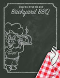 Barbeque BBQ Invitation Royalty Free Stock Photography