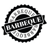 Barbeque stamp in turkish stock illustration