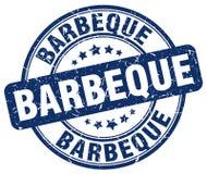 Barbeque blue grunge round vintage stamp. Barbeque blue grunge round vintage rubber stamp stock illustration
