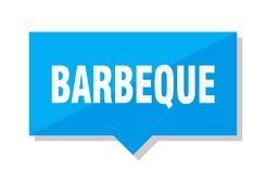 Barbeque price tag. Barbeque blue square price tag royalty free illustration