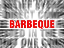 Barbeque. Blurred text with focus on stock illustration