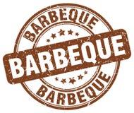 Barbeque brown grunge round vintage stamp. Barbeque brown grunge round vintage rubber stamp stock illustration