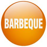 Barbeque button. Barbeque round button isolated on white background. barbeque stock illustration
