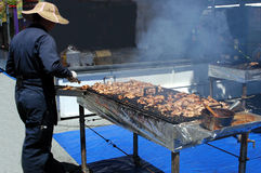 Barbeque Chicken. A street festival royalty free stock photo