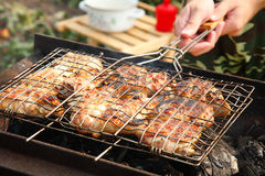 Barbeque of chicken Stock Image
