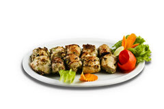 Barbeque chicken tikka pieces. Royalty Free Stock Photography