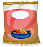 A barbeque chip plastic container. Illustration of a barbeque chip plastic container on a white background vector illustration