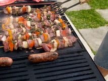 Barbeque cooking. Royalty Free Stock Photo