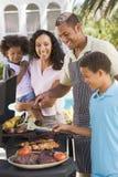 barbeque enjoying family