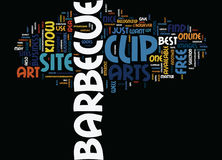 Barbeque Equipment Word Cloud Concept. Barbeque Equipment Text Background Word Cloud Concept stock illustration