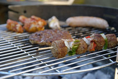 Barbeque with family Royalty Free Stock Images
