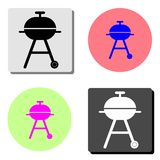 Barbeque. flat vector icon. Barbeque. simple flat vector icon illustration on four different color backgrounds royalty free illustration