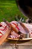 Barbeque Fork and Tongs Stock Image