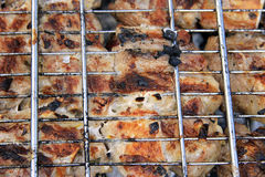 Barbeque Fried On The Bonfire And Coals Royalty Free Stock Photography