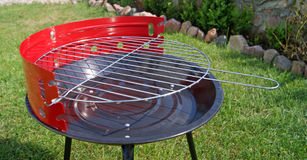 Barbeque grill. On green grass Stock Images