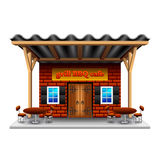 Barbeque grill cafe isolated on white vector. Barbeque grill cafe isolated on white photo-realistic vector illustration Stock Image