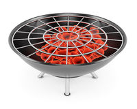 Barbeque grill. Isolated on white background. 3d remdering image vector illustration